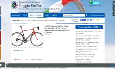 Reggio Emilia: asta on line per 459 biciclette. VIDEO